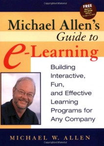 Good e-learning has to engage the heart of the learner (in the first minute), brain and stomach. Just one of the three is not enough. After all we want long term changes of behavior!  - Michael Allen