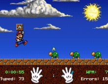 Here's Mario in Level 1.  In addition to Mario, players can chose to be Luigi or Princess.